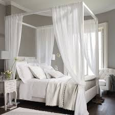 White Canopy Bed Curtains Best 25 Canopy Bed Curtains Ideas On Inside