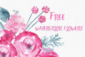 Watercolor Flowers - free watercolor flowers by thehungryjpeg thehungryjpeg com