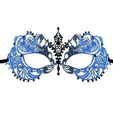 blue masquerade masks glitter series laser cut metal venetian pretty womens masquerade mask