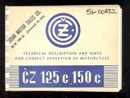1951 ceske zavody cz 125 u0026 150 motorcycle specification workshop