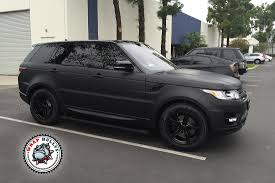 wrapped range rover autobiography range rover sport wrapped in 3m deep matte black wrap bullys