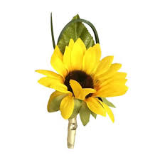 sunflower ribbon colorful artificial flower wedding bouquet corsage daisies and