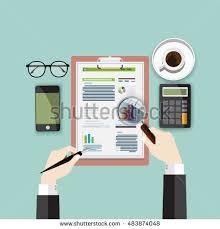 Desk Audit Assessment Audit Concept Vector Illustration Stock Vector