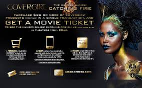 free hunger games catching fire ticket with 20 covergirl purchase