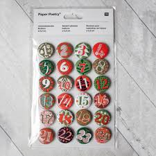 calendar buttons green and red 1 24 diy advent calendar craft