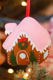 felt gingerbread house ornament imagine our