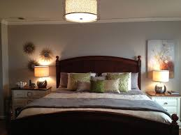 Overhead Bedroom Lighting Bedroom Artistic Flower Wall Painting In Fashioned Room Using