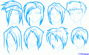 spiky anime hairstyles how to draw how to draw anime head