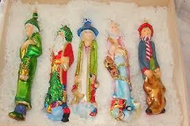 rare komozja a christmas carol box set of 5 glass ornaments new