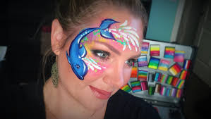dolphin face painting youtube