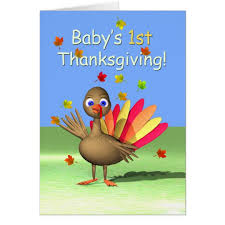 baby s 1st thanksgiving baby turkey card zazzle