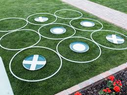 diy giant outdoor tic tac toe with hula hoops hgtv