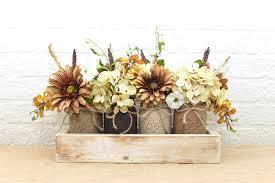 Mason Jar Floral Centerpieces Mocha Espresso Pint Mason Jar Floral Arrangement Planter Box