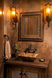bathroom lighting fixtures powder room traditional with brown