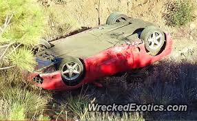 brutal ferrari 360 modena rollover crash caught on video