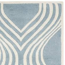 Area Rugs 5 X 8 Safavieh Chatham Collection Cht758b Handmade Blue And Ivory