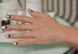gold plated moon nail art tutorial by essie youtube