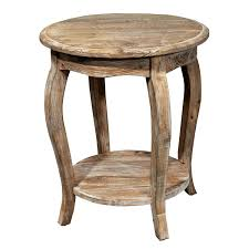 alaterre arsa1525 rustic reclaimed wood round end table
