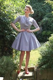 dress vintage 50s style dove grey mad men itsvintagedarling