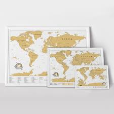 Scratch Off World Map Wall Maps And Personalized World Posters