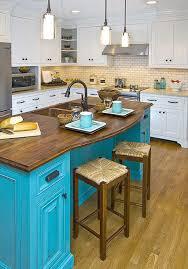 blue kitchen islands colorful kitchen island ideas eatwell101