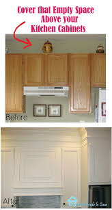 How To Install Kitchen Cabinets Crown Molding by Closing The Space Above The Kitchen Cabinets Moldings Empty