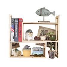 mettre sur le bureau étagères de rangement de bureau mini étagère en bois massif pour