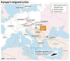Hungary Map Europe by Map Recent Border Controls And Border Fences Along Main Migrant