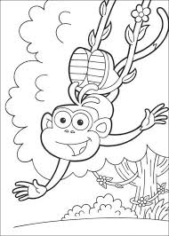 happy boots monkey coloring pages hellokids