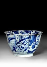 large chinese blue and white porcelain bowl qing dynasty kangxi