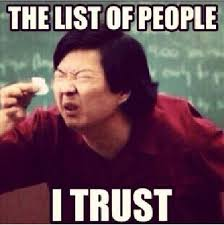 No Trust Meme - what every sales rep should be doing about the buyer seller trust