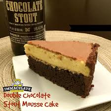 double chocolate stout mousse cake double chocolate stout and