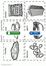 printable food coloring pages protein