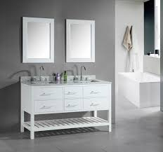 Black And Silver Bathroom Divine Design Ideas Using Rectangular Black Wooden Vanity Cabinets