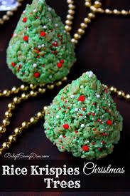 krispies christmas trees recipe