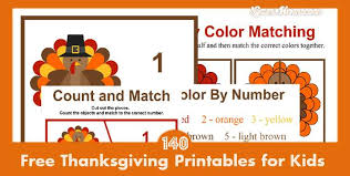 140 pages free thanksgiving printables for learning