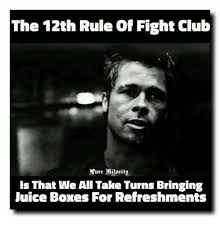 Fight Club Memes - the 12th rule of fight club ure milarito is that we all take turns