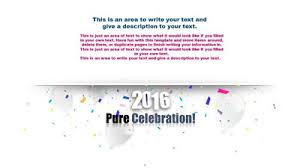 celebration a powerpoint template from presentermedia