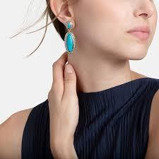 turquoise drop earrings hardy dot two tone turquoise drop earrings