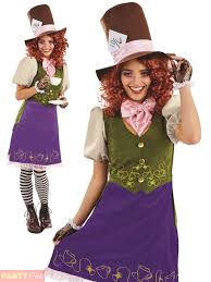 female mad hatter halloween costume ladies mad hatter costume wonderland white rabbit fancy dress