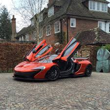 orange mclaren mclaren p1 painted in volcano orange w exposed carbon fiber photo