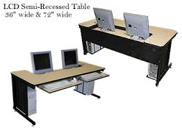 conference table with recessed monitors conference table training computer laptop table lcd monitor table
