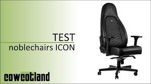 cowcot tv test fauteuil gaming noblechairs icon youtube