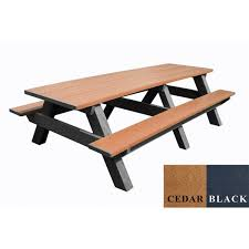 plastic rectangular outdoor table 8 ft recycled plastic rectangular picnic table portable by park