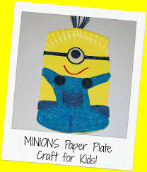 minions paper plate craft for kids wikki stix