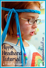 hippy headband hippie headband tutorial t shirt refashion this makes stuff