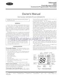carrier termostatos 33cs220 fs manual de usuario descargar gratis