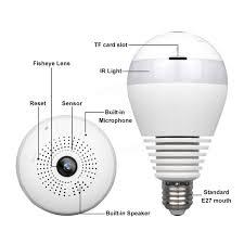 what is an e27 light bulb e27 360 panoramic 1080p ir camera light bulb wifi fisheye cctv
