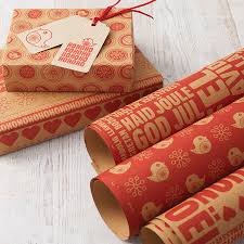 and kraft assorted christmas wrapping paper set by allihopa