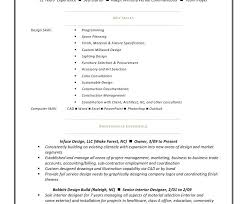 Interior Designer Resume Breathtaking Interior Design Resumes 16 Commercial Interior Design